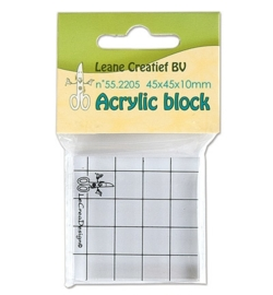 Acrylic Block 55.2205     45x45x10mm