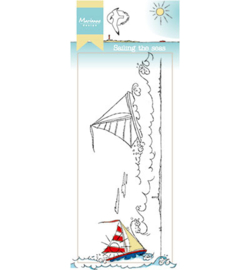 Marianne Design Stamp -  Hetty's border - Sailing the seas  HT1623