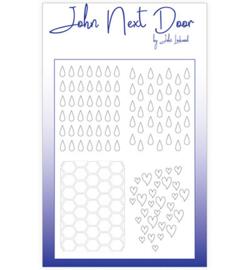 John Next Door - Mask Stencil & Sjablonen - Duo Mask Quatro Drops