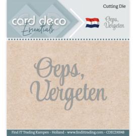 Card Deco Essentials - Cutting Dies - Oeps, vergeten