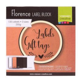 Florence - Labelblock - 3 maten 250 grams