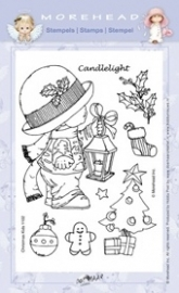 Morehead Clear Stamps Kerst Candlelight 1102