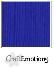 CraftEmotions linnenkarton 10 vel  Kobaltblauw  30,5x30,5cm
