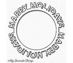 Die-namics Happy Holidays Circle Frame  MFT-1190
