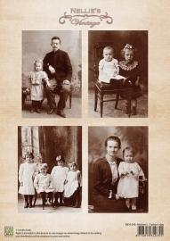 Nellie Vintage Moeder- en vaderdag NEVI-045 A4 Knipvel