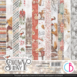 Ciao Bella - Memories of a Snowy Day- Dubbelzijdig Paper pad 15 cm x 15 cm.. - CBQ048