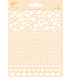 Joy!Crafts -  Poly Besa Stencil 6002/0852  -  Hartjes