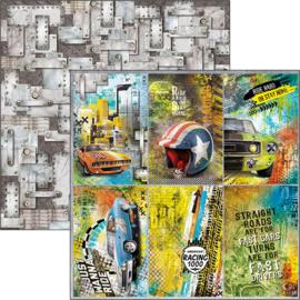 Ciao Bella - Start your Engines - Dubbelzijdig papier vel 30,5 cm x 30,5 cm -CBSS098
