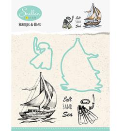 Nellie Snellen - Stamps & Dies -  Boat