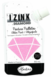 IZINK Diamond glitterverf/pasta - 80 ml, powderpink - 80828