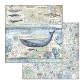 Stamperia - Arctic Antarctic - Paper - 30,5 x 30,5 cm. - Whale