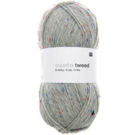 Sokkenwol Rico Superba Tweed 6 draads - Licht grijs 383304.004