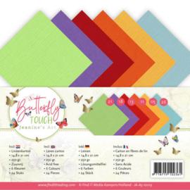 Linnen pakket - A5 - Jeanine's Art - Butterfly Touch