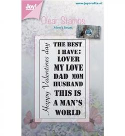 Noor!Design Clear Stamps Men's Heart  6410/0374