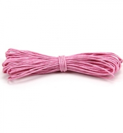 Wax Katoen Koord Rond Pink 8303