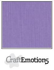 CraftEmotions linnenkarton 10 vel  Lavendel  30,5x30,5cm