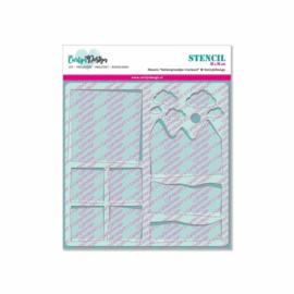 CarlijnDesign Stencil Achtergrondjes Vierkant