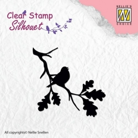 Nellie Clear Stamps Silhouet SIL006 Birdsong-2