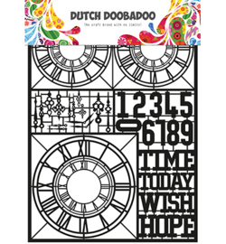 Dutch DooBaDoo - Paper Art - A5 - Clocks - 472.950.007