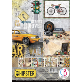 Ciao Bella - Hipster - Dubbelzijdig Creative Pad - A4 - CBCL035