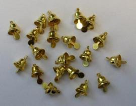 Klokjes goudkleur  8 mm 20 ST   -   801400/4411