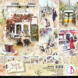 Ciao Bella - Notre Vie - Dubbelzijdig Paper pad 30,5 cm x 30,5 cm. - CBPM045