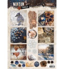 Studio Light - Easy 3D A4 Stansvel Winter Trails -  nr 628