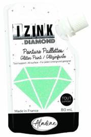 IZINK Diamond glitterverf/pasta - 80 ml, pastelgroen - 80831