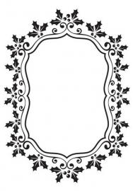 Nellie`s Choice Emb.folder Kerst ovaal frame van hulst EFE024