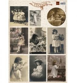 Marianne Design Vintage Flower Children 1 VK9540