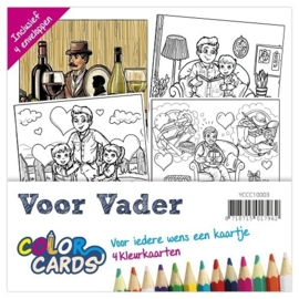 Yvonne Creations Color Cards 3 - Voor Vader - YCCC10003
