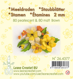 Leane Creatief - Meeldraden Matt & Pearl -  Brown