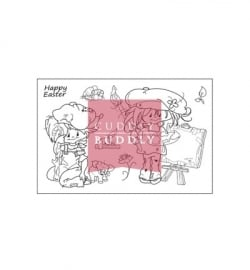 Cuddly Buddly Clear Stamps Little Poppets Springtime CBS0022