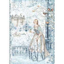 Stamperia - Winter Tales - Rice Paper - A4  Fairy in the Snow