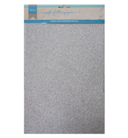 Marianne Design Decoration Paper - Soft Glitter Silver  - CA3142