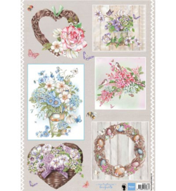 Marianne Design A4 Knipvel Els(EWK)Country Flowers 2 - EWK1248