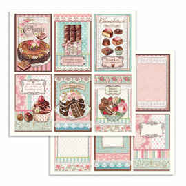 Stamperia - Sweety - Paper - 30,5 x 30,5 cm. - Chocolate Cards