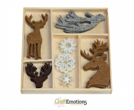 Vilten Ornamenten Reindeer and Antlers Winter Woods 800400/0141