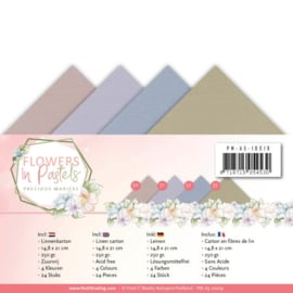 Precious Marieke Flowers in Pastel - Cardstockset - A5