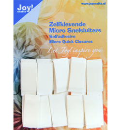 Joy!Crafts- Zelfklevende Micro Snelsluiters- 6500/0090