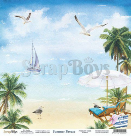 ScrapBoys Summer Breeze paper sheet DZ SUBR-01
