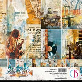 Ciao Bella - Blue Note - Dubbelzijdig Paper pad 30,5 cm x 30,5 cm. - CBPM043