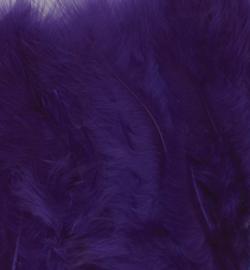 Veren Marabou  Purple 15 stuks