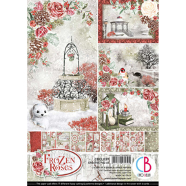 Ciao Bella - Frozen Roses - Dubbelzijdig Creative Pad - A4 - CBCL039
