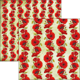 Ciao Bella - Poppies - 30,5 X 30,5 CM - CBSS103