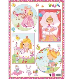 Marianne Design A4 Knipvel - Buddies Girls EWK1242