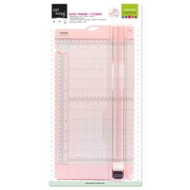 Vaessen Creative • Papiersnijder met rilfunctie 15x30,5cm roze