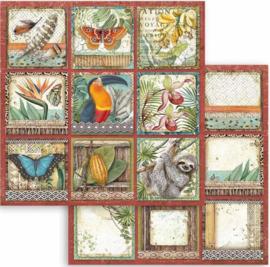 Stamperia - Amazonia  -Square Tags - Paper - 30.5 x 30.5  cm