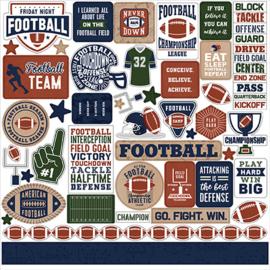 Echo Park - Basketball Stickervel - 30,5 x 30,5 cm.