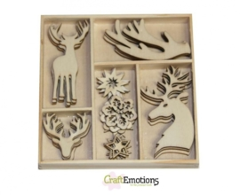 Houten Ornamenten Winter Woods Rendier 811500/0141